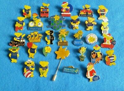 A Collection Of Different Marie Curie Pin Badges And Key Rings Charity  • 2.25£