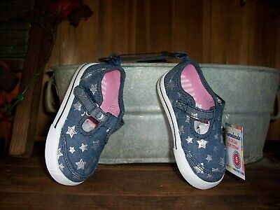 cfe3ebbae Garanimals Girls Star Design Casual Shoes Size 5 Blue Denim Easter Shoes  Buckle • 15.99$