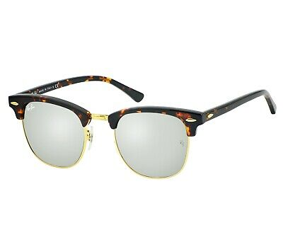 1a08b84f4bf35 Ray-Ban RB3016 CLUBMASTER SILVER FLASH LENSES Tortoise Frame 1145 30 Unisex  51mm •