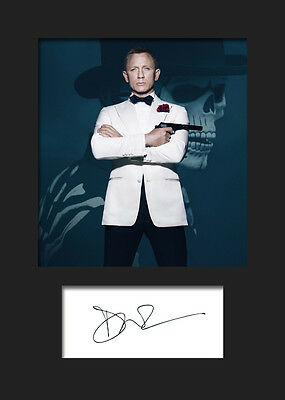 £3.79 • Buy DANIEL CRAIG #1 A5 Signed Mounted Photo Print (REPRINT) - FREE DELIVERY