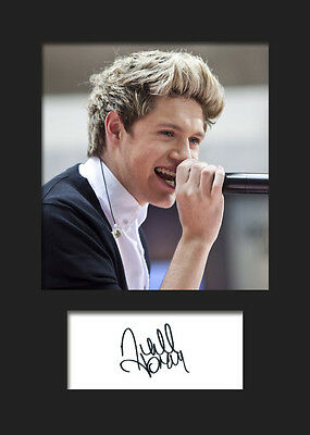 £3.79 • Buy NIALL HORAN (One Direction) #4 Signed A5 Mounted Photo Print - FREE DELIVERY