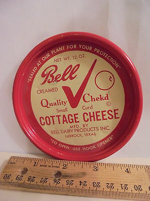 $7.56 • Buy Bell Dairy Lubbock Texas Tx Tex Cottage Cheese 12oz Metal Lid Good Graphic/shape