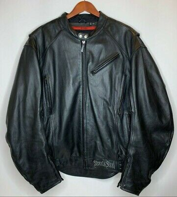 Street And Steel Mens XXL Ride The Life Motorcycle Riding Leather Jacket Black • 75.48$