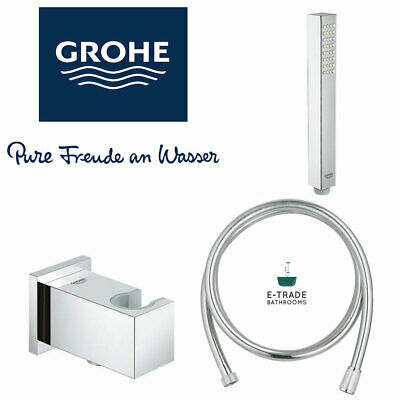GROHE Euphoria CUBE Stick & Hose & Wall Holder Connector Shower Set  • 83.99£