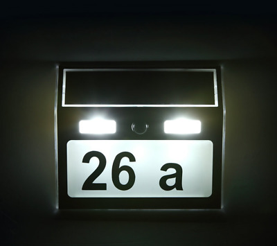 £12.99 • Buy Motion Detection Solar Powered Led Customised House Number Plate