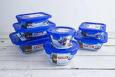 £18.99 • Buy Pyrex Cook & Go Airtight Glass Food Storage Containers With Blue Plastic Lid