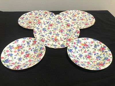 $ CDN94.92 • Buy Vintage Royal Winton Grimwades Old Cottage Chintz 8  3-Round Plate And 2 Saucers