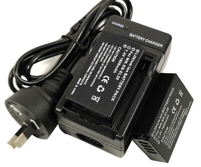 AU35.85 • Buy Mains Charger +2x Battery For Nikon EN-EL20a EL20 1J1 1J2 1J3 1S1 Coolpix P1000