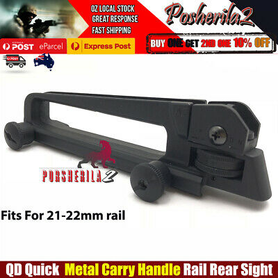 AU31.30 • Buy Upgrade Metal Quick Carry Handle Rail Rear Sight Gel Blaster Gen 8 J9 Scar M4A1