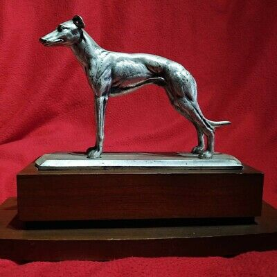 £149 • Buy Mid Century Vintage Solid Metal Greyhound Lurcher Whippet  Quality Sculpture