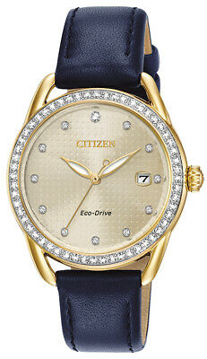 $ CDN92.60 • Buy Citizen Eco-Drive LTR Women's Crystal Accents Gold-Tone 37mm Watch FE6112-09P