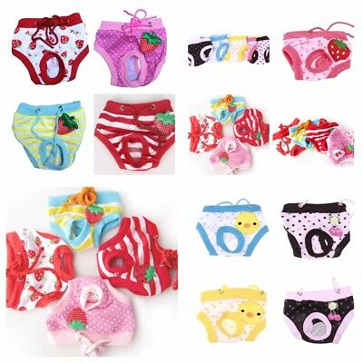 £3.99 • Buy Cute Small Dog Puppy Pet Nappies Diapers Knickers Pants, Reusable - FREE POST!