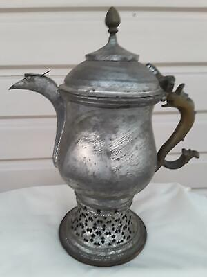 $139.50 • Buy Antique Indo-Persian Copper Samovar Travel Tea Kettle Islamic Bedouin Hooka Prop