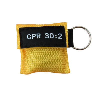 £3.03 • Buy 4 Pcs Cpr Mask With Keychain Cpr Face Shield Aed Yellow Pouch Cpr 30:2 Aed Train