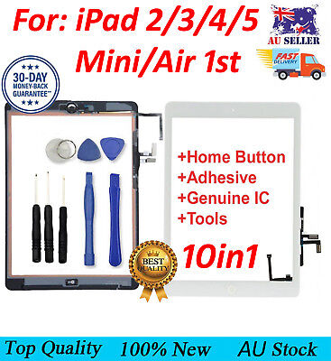 AU19.99 • Buy IPad 2 3 4 5 Air Mini 1 2 Touch Screen Digitizer Front Glass Replacement + Tools