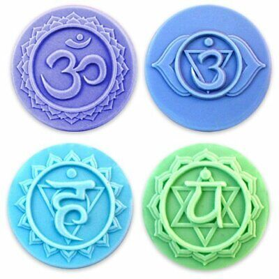 $11.99 • Buy Milky Way Chakras 4 Soap Mold Tray Melt Pour Clear PVC NOT SILICONE MW 163