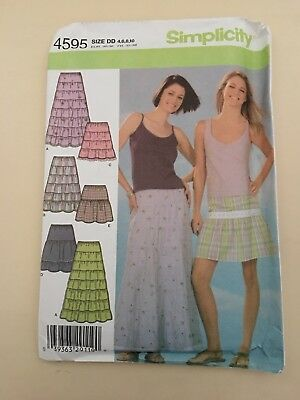 Ladies Dressmaking Pattern - Simplicity Skirts - Size 4,6,8,10 • 5£