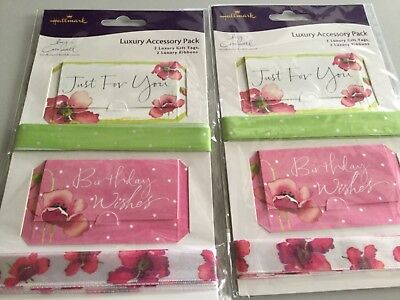 HALLMARK ~ 2 X Lucy Cromwell Luxury Accessory Packs ~ Gift Tags & Ribbons • 4.29£