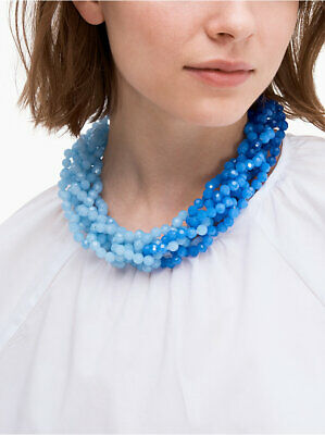 $ CDN39.79 • Buy Kate Spade The Bead Goes On Collar Necklace Blue W Pouch