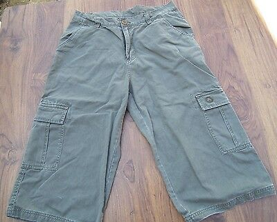 AIRWALK Men's Olive Green Khaki Cargo Long Shorts Size M  • 11.99£