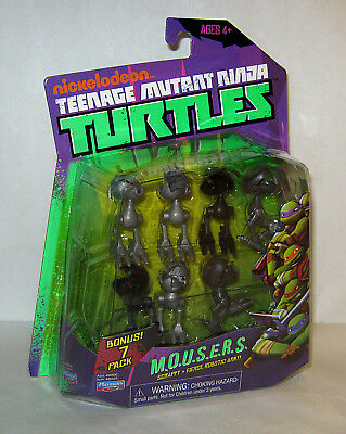 TMNT Teenage Mutant Ninja Turtles 2013 Playmates M.O.U.S.E.R.S 7 Pack MIP