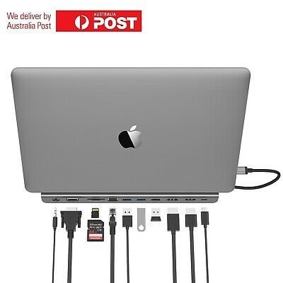 AU187.97 • Buy Lention USB C To HDMI VGA DP USB 3.0 PD Ethernet SD/TF And 3.5mm Audio Hub