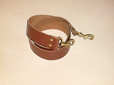 1 1/2  Tan Leather Shoulder Bag Replacement Strap Gold/silver/bronze Fittings • 16.99£