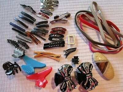 Large Lot Of Misc. Hair Accessories, Bands, Clips, Barretts Some New Some Pre-Ow • 4.99$