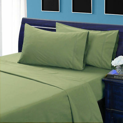 1000 Thread Count Egyptian Cotton Ultra Soft Bedding Items UK Sizes Moss Solid* • 18£