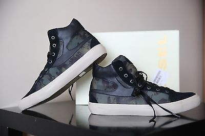 £95 • Buy Diesel Kwaartzz Men Camouflage/ Black Shoes Size UK 10 EUR 44