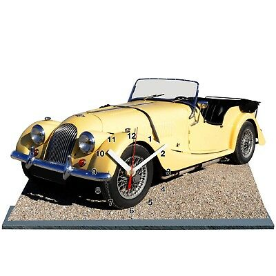 MODEL CARS, MORGAN-13,11,8x 7,8 Inches And Aluminium With Clock • 25£