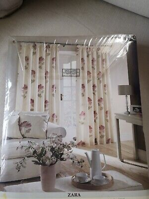 £36.99 • Buy Pair Of Fully Lined Curtains Montgomery 'Zara' With 3 Ins. Pencil Pleat Heading