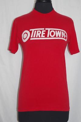 $ CDN53.62 • Buy Vintage T-Shirt Adult Small Tire Town Red With White Graphics Distressed Thin
