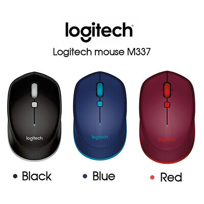 AU42.49 • Buy Logitech M337 Bluetooth Wireless Mouse - Red/Blue/Black PC MAC CHROME ANDROID