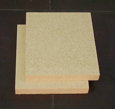 2 Vermiculite Fire Brick Replacement 9  X 10.5  DIY You Cut To Size TWO BRICKS  • 19£