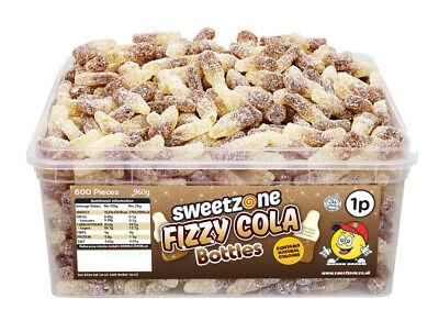 Halal Sweets Sweetzone Cola Bottles Jelly Fizzy Candy Chewy Tubs 600pcs • 7.99£
