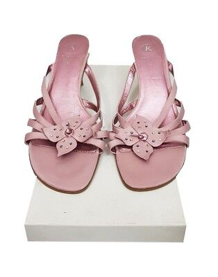 CLARKS Shoes Size 5.5 Pink Sandals Holiday Xmas Party Cocktail Evening Wedding • 12.95£