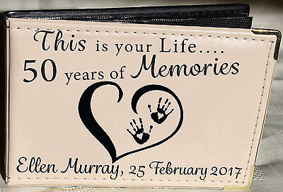 Personalised Photo Album,Memory Book,This Is Your Life, 50th Birthday Gift,6 X 4 • 13.99£