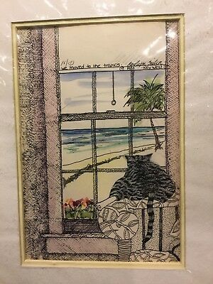 $25 • Buy KEY WEST FLORIDA Artist Carolyn Seiler Matted Numbered 10/50 And Signed