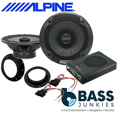 VW Transporter T6 PG Alpine Front Door Car Speakers & 300W Underseat Sub Kit • 229£