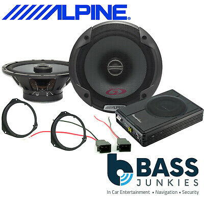 Vauxhall Vivaro MK2 X81 Alpine Front Door Car Speakers & 300W Underseat Sub Kit • 229£