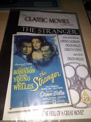The Stranger-(dvd)-new&sealed-edward G Robinson, Orson Welles & Loretta Young • 2.49£