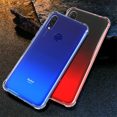 $2.29 • Buy For Xiaomi Redmi 7A Note 8 7 Pro 8T 8A Shockproof Silicone Clear TPU Case Cover