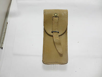 Old  French Army Tan Leather Ammo Pouch • 12.99£