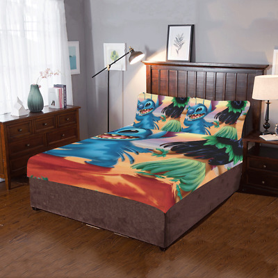 $59.99 • Buy New Popular Custom Lilo And Stitch Duvet Cover Pillowcase 3-Pieces Bedding Set