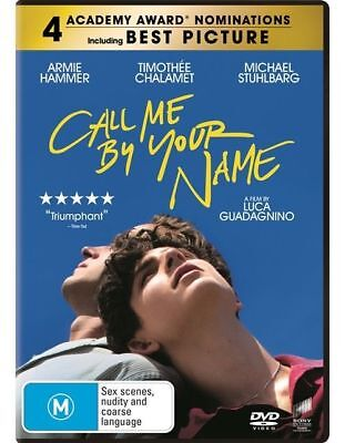 AU13.85 • Buy Call Me By Your Name (DVD, 2018), NEW SEALED AUSTRALIAN RELEASE REGION 4