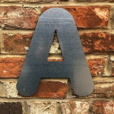 £11.99 • Buy A Lettering Letters GALVANIZED Metal Shop Home Sign Rustic Words Bar Cafe Pub