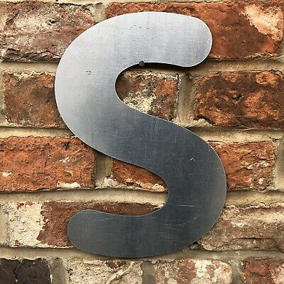£11.99 • Buy S Lettering Letters GALVANIZED Metal Shop Home Sign Rustic Words Bar Cafe Pub