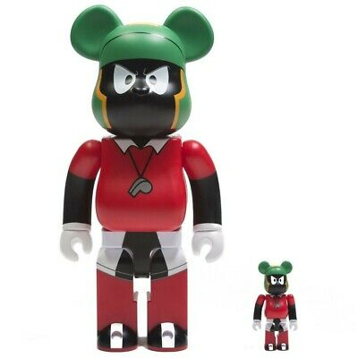 $165 • Buy Medicom BE@RBRICK Space Jam Marvin The Martian 100% 400% Bearbrick Figure Set
