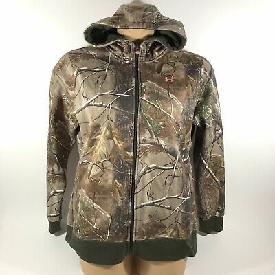 1d9bf951f91b3 Under Armour Hunt Realtree Camo Full Zip Hooded Jacket Women's XL • 29.99$